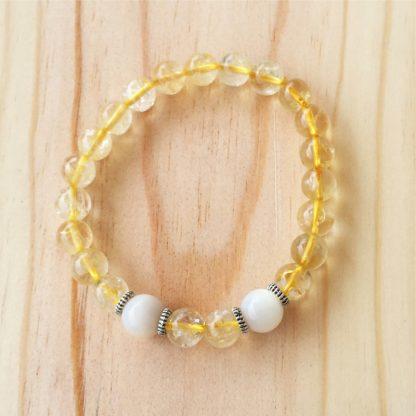 Bracelet en pierre naturelle citrine