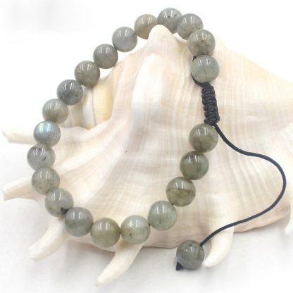 Bracelet réglable en pierre naturelle labradorite