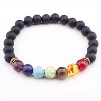Bracelet d'harmonisation 7 chakras et pierres de lave