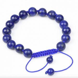 Bracelet de perles en pierre naturelle lapis lazuli