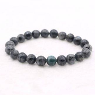 Bracelet en perle de labradorite naturelle