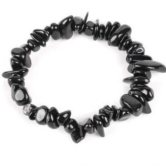 Bracelet en tourmaline noire baroque