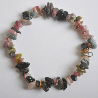 Bracelet en tourmaline baroque multicolore naturelle