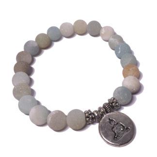 Bracelet yoga chakra en pierre amazonite