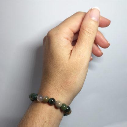 Bracelet en perle tourmaline naturelle multicolore