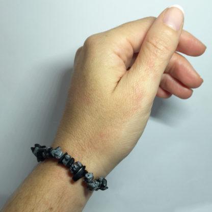 Bracelet baroque en tourmaline noire et grise