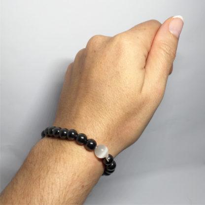 Bracelet en pierre naturelle hématite