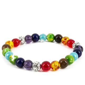 Bracelet d'harmonisation des 7 chakras multicolores