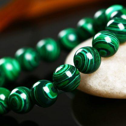 Bracelet en malachite verte