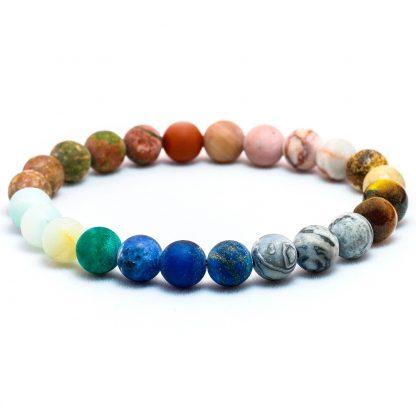 Bracelet système solaire en pierres naturelles