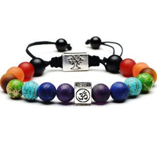 Bracelet harmonisation 7 Chakra arbre de vie