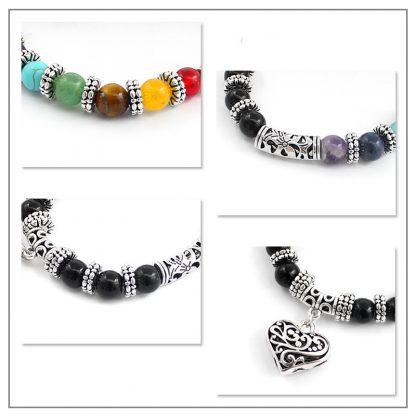 bracelet 7 chakras amour harmonie