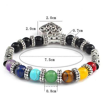 bracelet 7 chakras amour harmonie sentiment