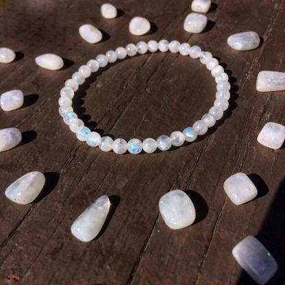 Bracelet fertilité en pierre de lune
