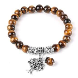 Bracelet protection oeil de tigre et arbre de vie