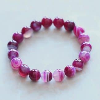 Bracelet du désir en agate rose