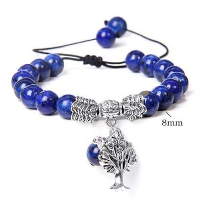 bracelet lapislazuli arbre de vie reglable