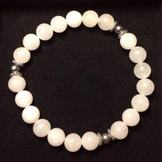 Bracelet repos en jade blanc
